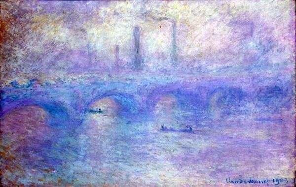 ウォータールーブリッジ。霧の効果   クロードモネ