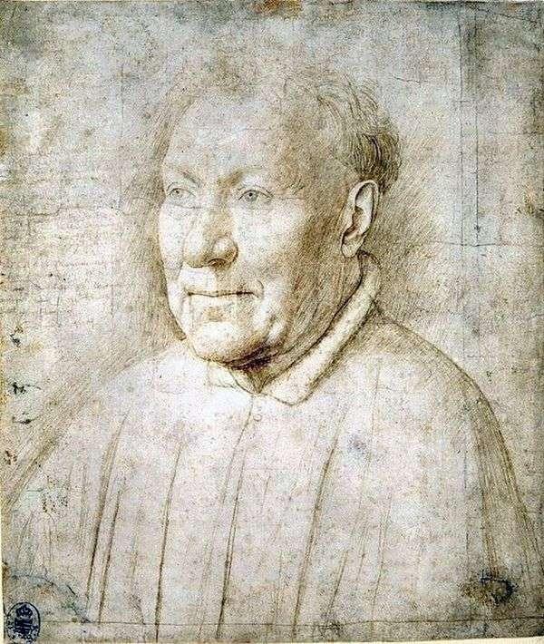 男性の肖像画のための研究   Jan van Eyck