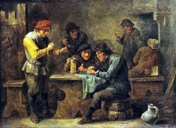 農民がサイコロをしている   David Teniers