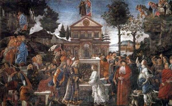 死者の癒しとキリストの誘惑   Sandro Botticelli