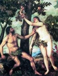アダムとイブ   Titian Vecellio