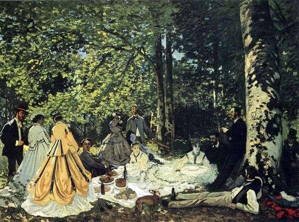 Chailly   Claude Monet、草の上のピクニック