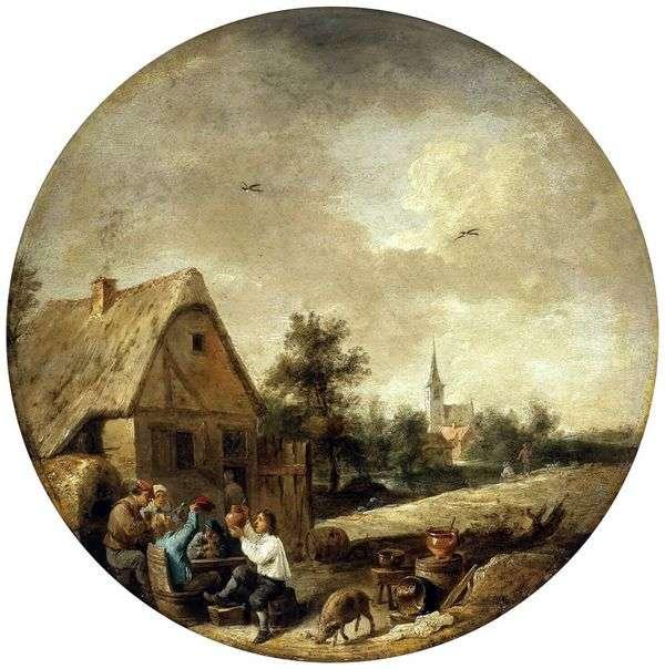 素朴なズッキーニの風景   David Teniers