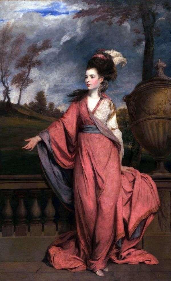 ジェーン、ハリントン伯爵の肖像   レイノルズジョシュア