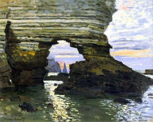 Port Aval、エトルタ、石の門   クロード・モネ