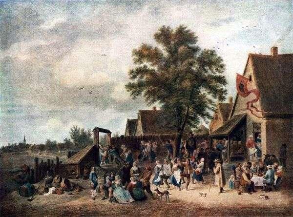 村での休暇   David Teniers