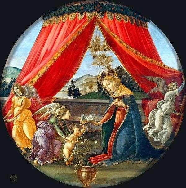 天蓋の下のマドンナ(Madonna del Padillone)   サンドロ・ボッティチェリ