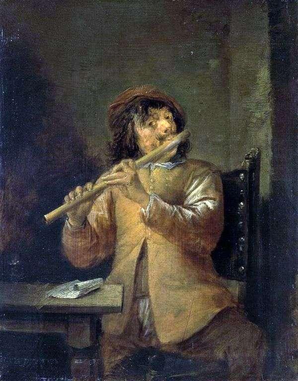 フルート奏者   David Teniers