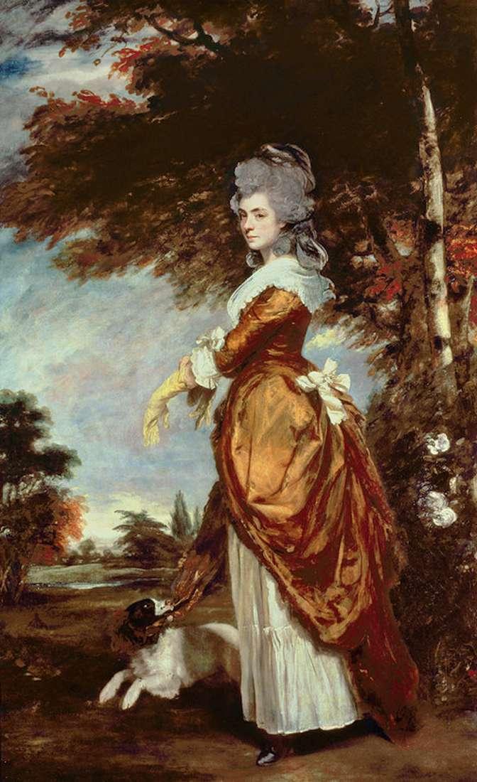 マリアアメリア、ソールズベリーの最初の侯爵の肖像   レイノルズジョシュア