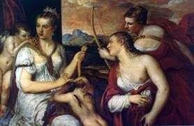 金星、キューピッドの目を結ぶ   Titian Vecellio
