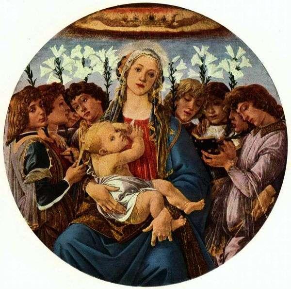 子供と八人の天使とマドンナ(Raczynskétondo)   Sandro Botticelli