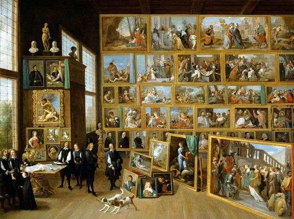 ブリュッセル   デビッド・テニエの彼のギャラリーでオーストリアの大公レオポルド・ヴィルヘルム