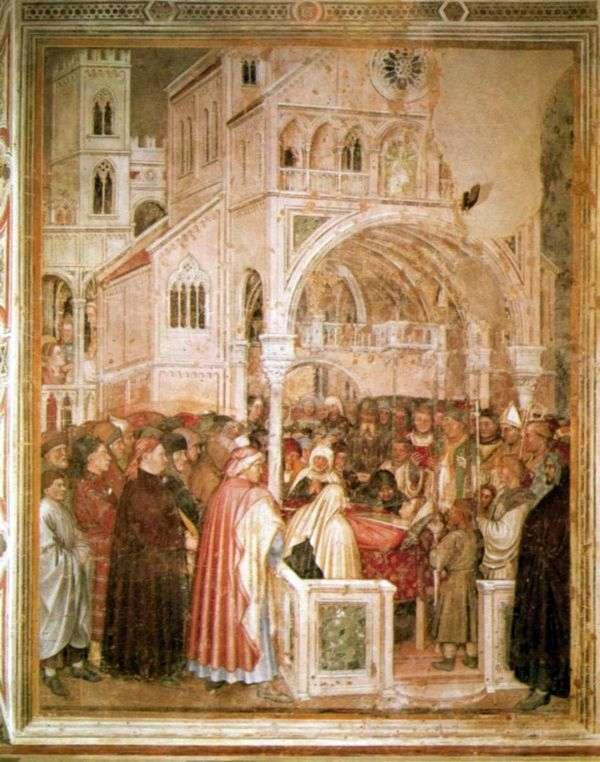 彼の死床にセントルシア。1379 84   Altiquiero da Zevio