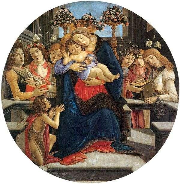 マドンナと子供、天使と洗礼者聖ヨハネ   Sandro Botticelli