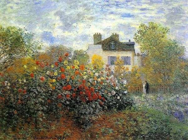アルジャントゥイユの庭園(Gergin)   クロード・モネ