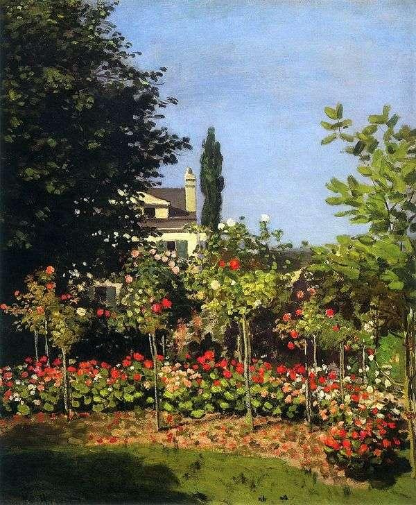 セント・イン・ブルームの咲く庭園   Claude Monet