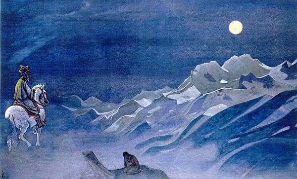 White Burkhanのオイロットメッセンジャー   Nikolay Roerich