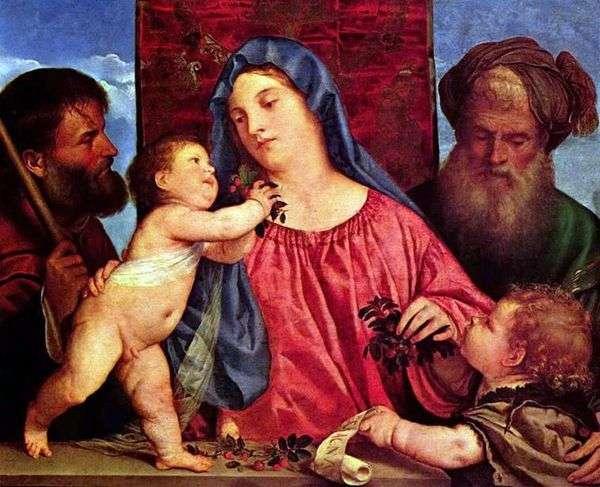 チェリーとマドンナ   Titian Vechelio