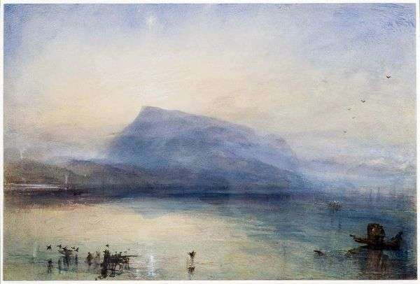 リガ山:日の出   ウィリアムターナーのルツェルン湖の眺め
