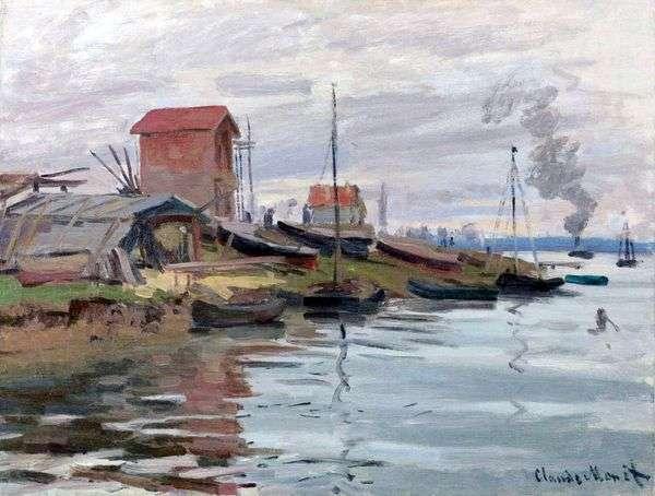 セーヌ川、プチジュヌヴィリエ   Claude Monet