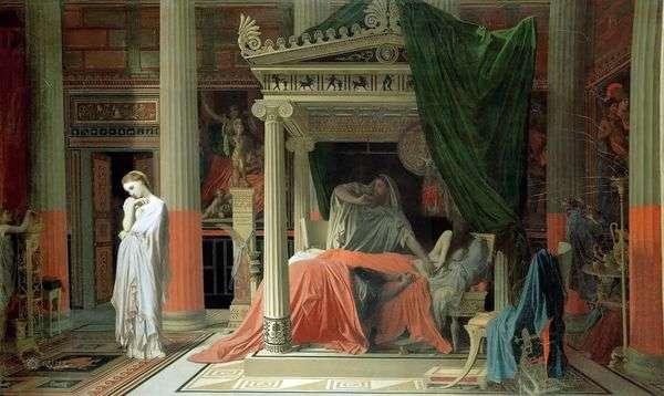アンティオコスとストラトニカ   Jean Auguste Dominique Ingres