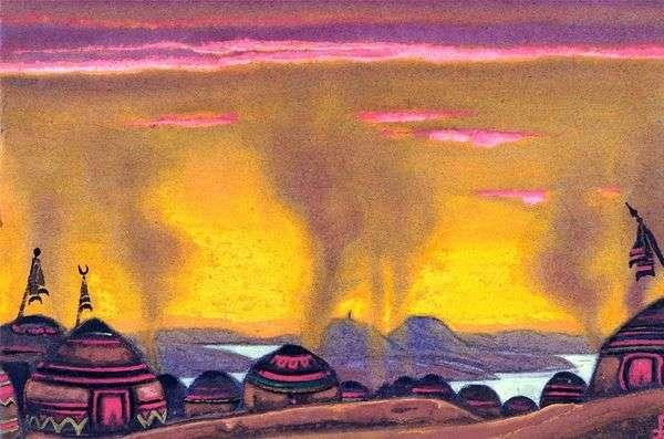 Polovtsyキャンプ   Nicholas Roerich