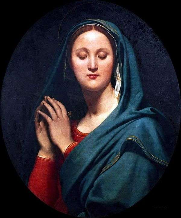 青いベールのヴァージン   Jean Auguste Dominique Ingres