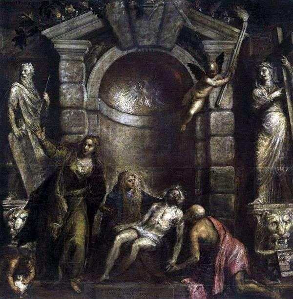 キリストの嘆き(ピエタ)   Titian Vecellio
