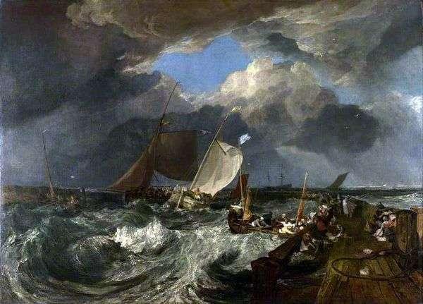 カレーの桟橋。フランスの漁師が海に行き、到着したイギリスの客船   William Turner