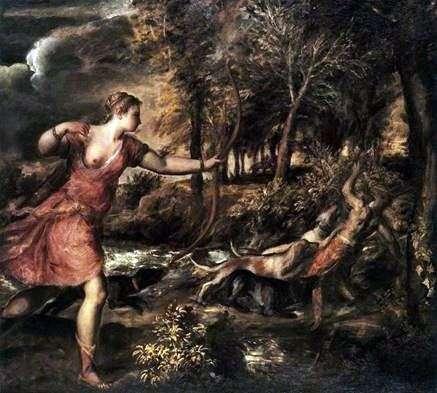 ダイアナの狩り   Titian Vecellio