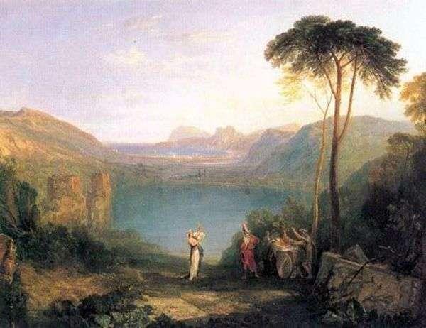 アバーン湖:アイネアスとクマの精神   William Turner