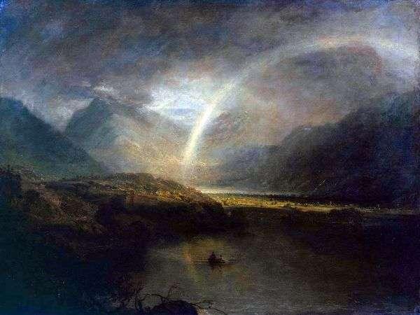 バターミア湖、虹と雨   William Turner