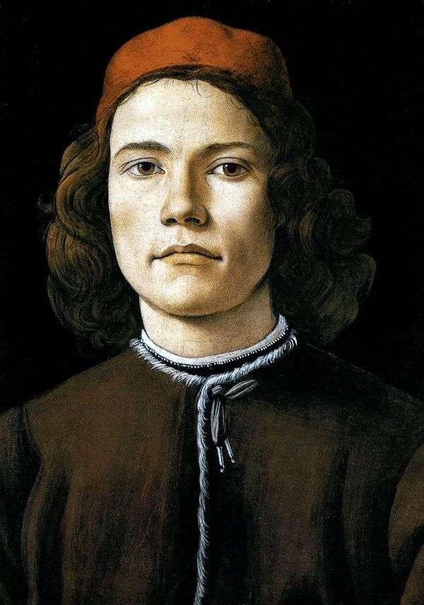 若い男の肖像   サンドロ・ボッティチェリ