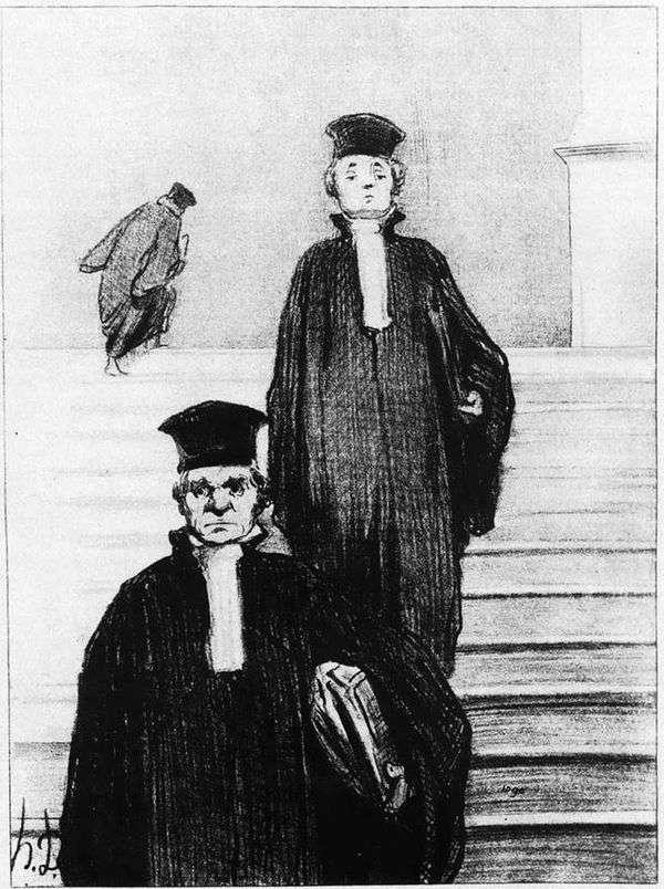 正義の宮殿の大階段   Honore Daumier