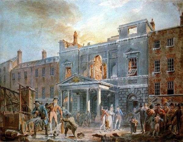 パンテオン、火の後の朝   William Turner