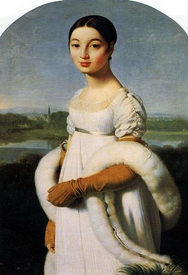 Mademoiselle Carolina Riviere   ジャンオーギュストドミニクアングル