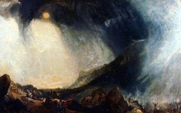 ハンニバルアルプスを渡る   William Turner