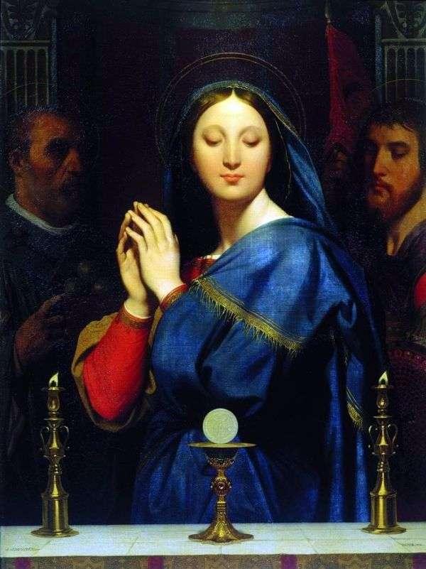 聖体拝領の前にマドンナ   Jean Auguste Dominique Ingres