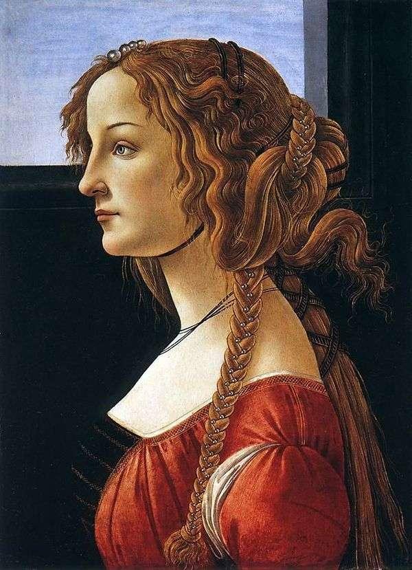 Simonetta Vespucci   サンドロ・ボッティチェリの肖像