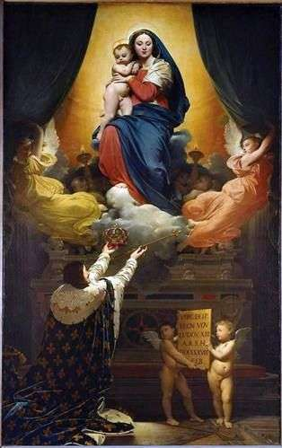 ルイ13世の誓い   Jean Auguste Dominique Ingres