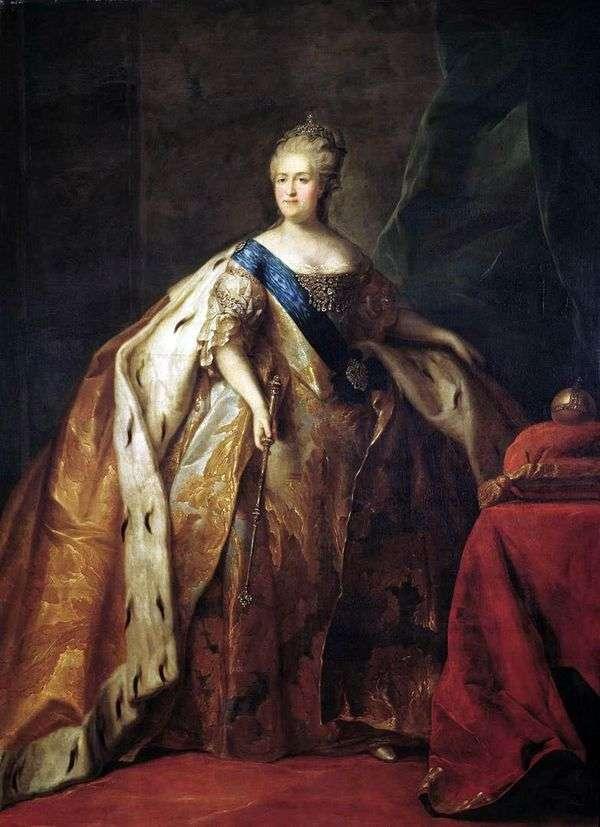 皇后妃キャサリン2世の肖像   Peter Drozhdin