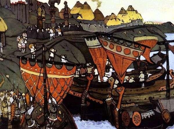 ドニエプル川のスラヴ人   Nicholas Roerich