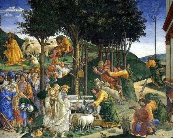 モーセの召命と裁判   Sandro Botticelli