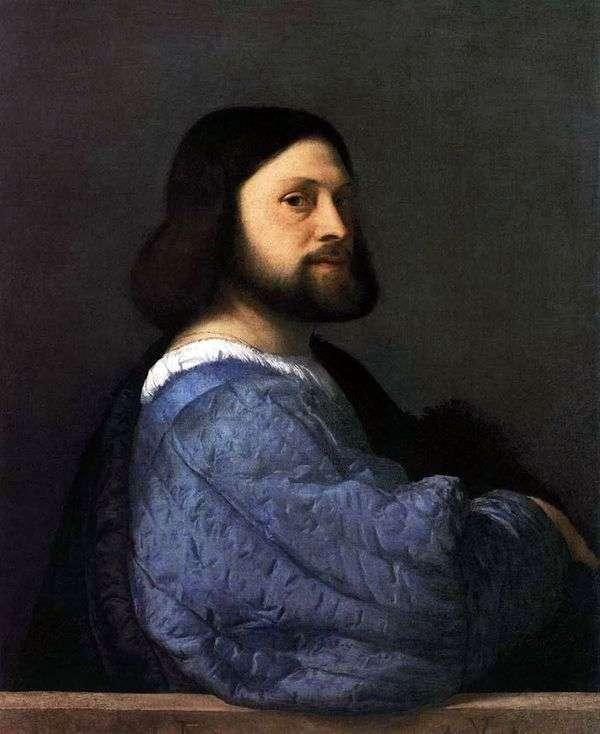 男の肖像(アリオスト)   Titian Vechelio