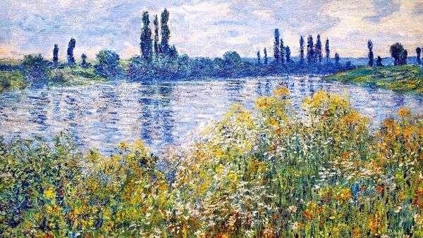 セーヌ川のほとりの花   クロード・モネ