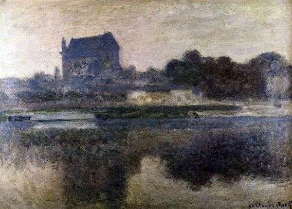 霧の中の教会   クロードモネ