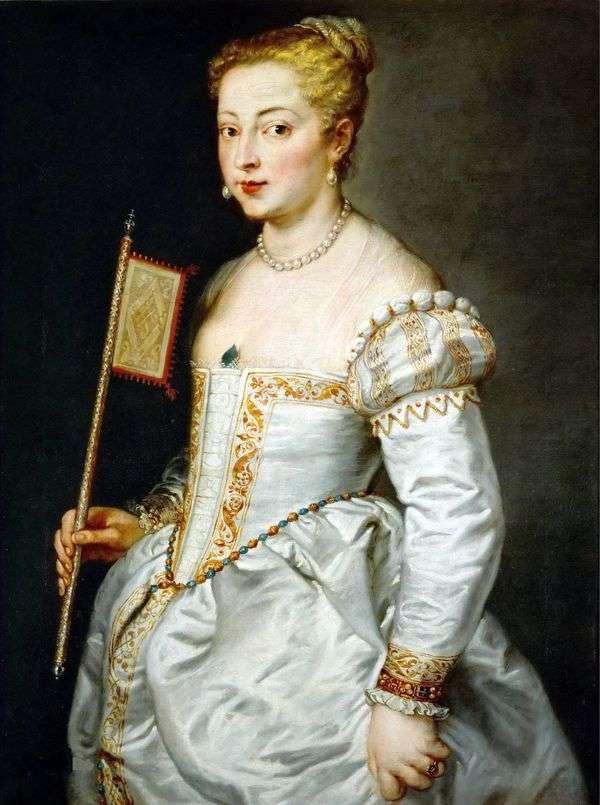 白いドレスの女性の肖像   Titian Vechelio