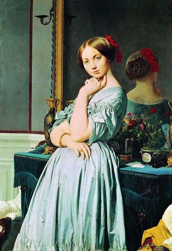 Louise dOssonville   Jean Augusteドミニクアングルの肖像