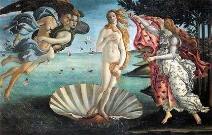 金星の誕生   サンドロ・ボッティチェリ