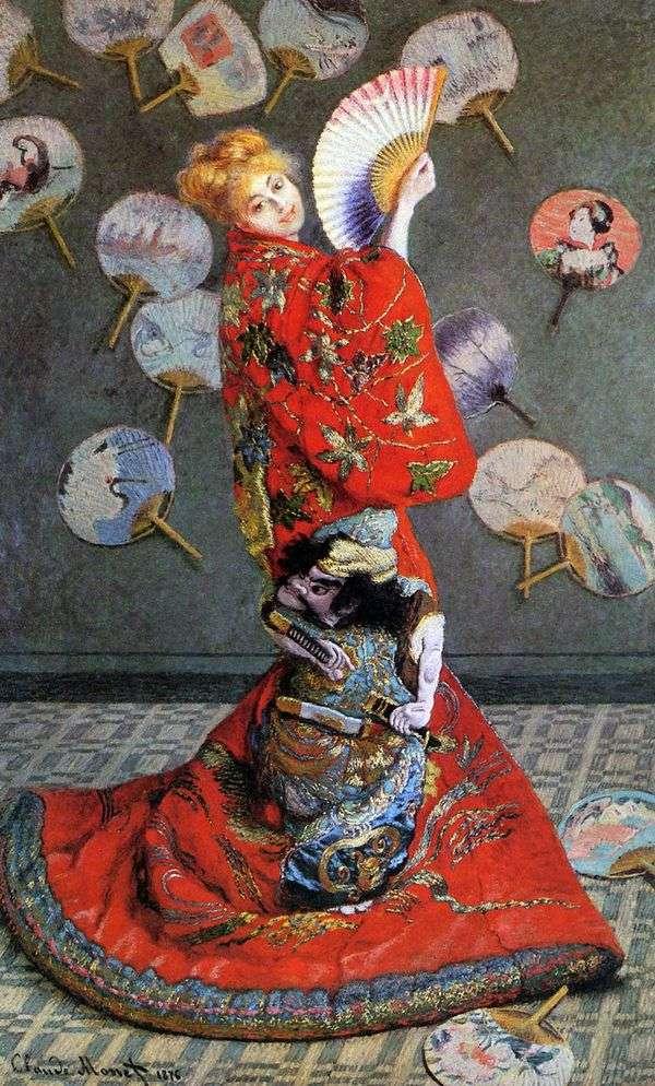 日本の女性(日本のコスチュームでカミーラ・モネ)   クロード・モネ